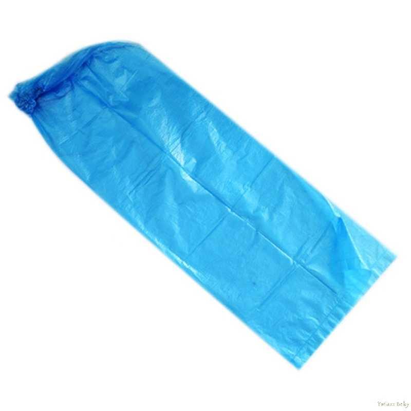 2018 1 Pasang Tahan Lama Tahan Air Tebal Plastik Sekali Pakai Hujan Sepatu Covers High-Top Boot Sep26_17
