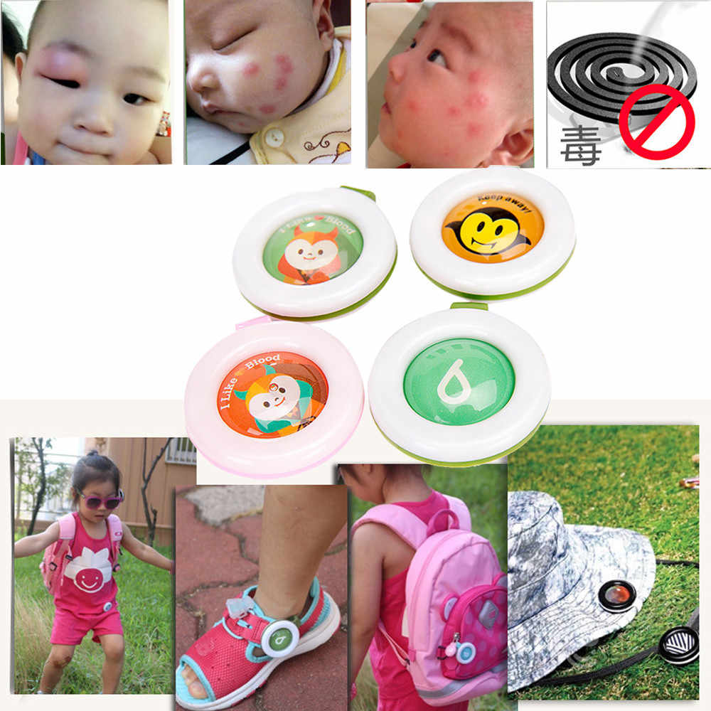New Mosquito Repellent Button Safe for Infants Baby Kids Buckle Indoor Outdoor Anti-mosquito Repellent  Dropshipping #T2