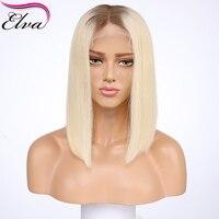 Реми Full Lace натуральные волосы парики для черный Для женщин предварительно сорвал бразильский Fulll парики шнурка прямой короткий парик Боб #4