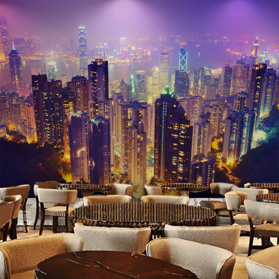 Photo wallpaper beauty city night scene 3D wallpaper European style ...