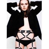 Atacado moda gothic corpo harness cintos de grife bodsm ligas mulheres Lingerie acessório de couro de cintura para perna
