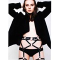 wholesales fashion gothic body harness designer belts bodsm  leather garters women Lingerie accessory from waist to leg