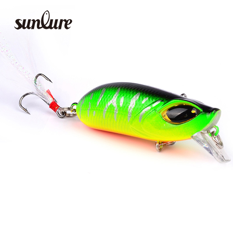 1pcs 5.5cm 8.26g Topwater Fishing Lures Minnow hard Baits With feathers Crankbait CrankArtificial Wobblers Fishing Tackle ZB9022 super value 101pcs almighty fishing lures kit with mixed hard lures and soft baits minnow lures accessories box