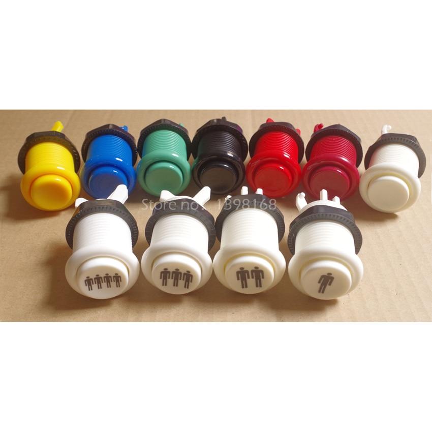 50 pcs Neo geo HAPP style Arcade Push Button American start button Durable Multicade MAME Jamma