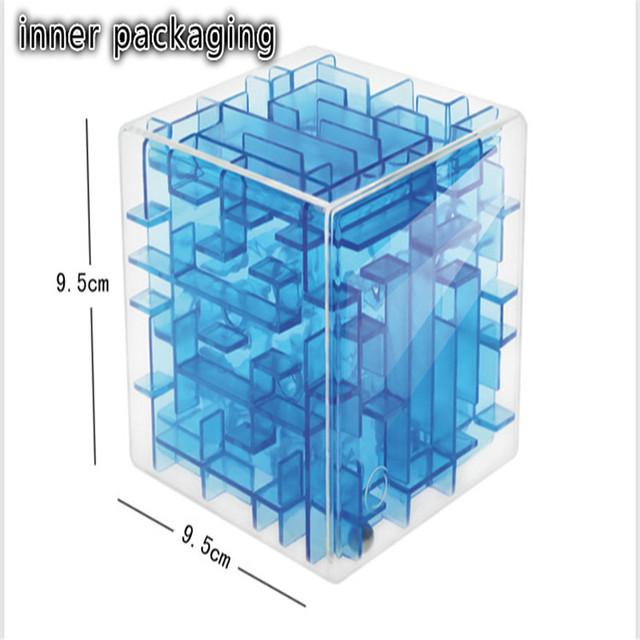 Laberinto 3D Laberinto Cubo Mágico Puzzle Cubo de la Velocidad de Balanceo de la Bola Juguetes Rompecabezas de Cubos Mágicos Magia Juguete Educación Aprendizaje Desafío Regalo