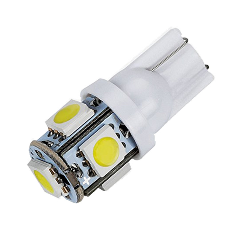 T10 W5W WY5W LED Bulbs 5050 5 SMD 194 168 Car Wedge Interior Side marker Tail Light motor parking lamps Car Styling 12v white