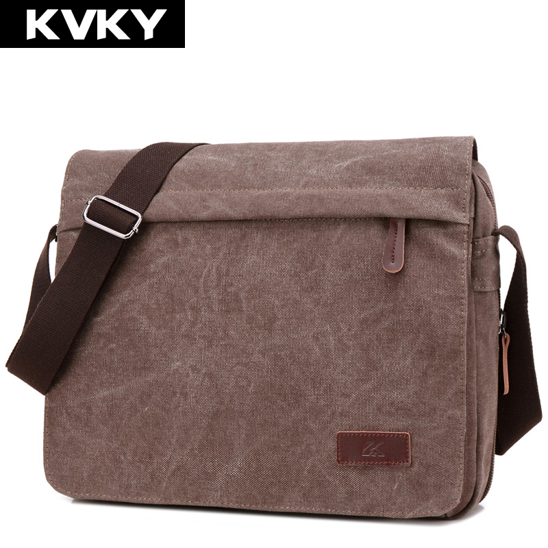 KVKY Vintage Canvas Men Messenger Bag Brand Shoulder Bags Man Bag High Quality Casual Crossbody Bag Handbag Casual Travel Bolsa 2017 new men s canvas bag handbag shoulder bags leisure travel bag men messenger bags man s big handbags bolsa feminina