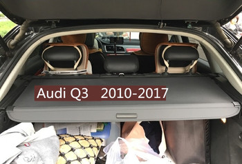 Car Rear Trunk Security Shield Cargo Cover For Audi Q3 2010.2011.2012.2013.2014.2015.2016.2017 High Qualit Auto Accessories