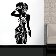 Africa Wall Decal Tribal African Art Black Woman Boho Stickers Bedroom Decor Room New Arrival AM01