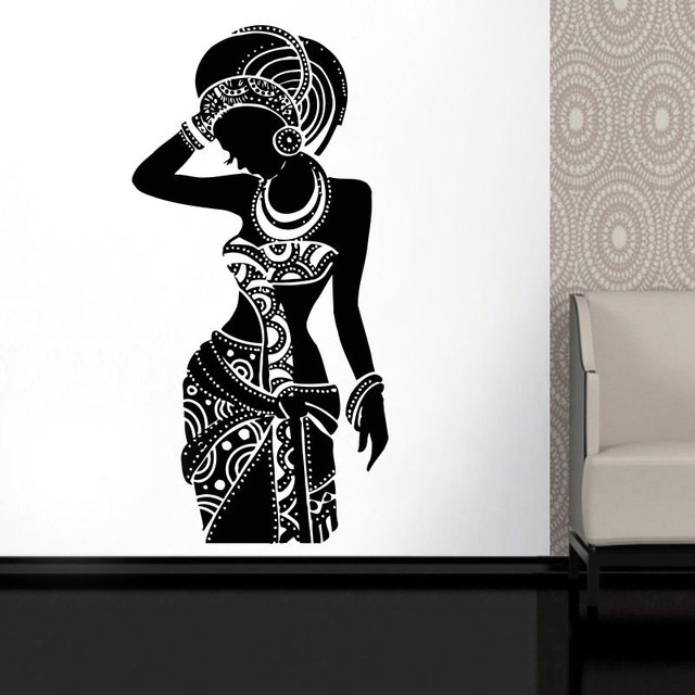 africa wall decal tribal african wall art black woman boho stickers