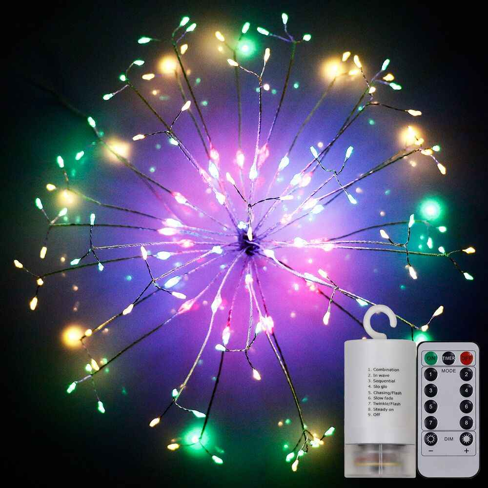 Detail Feedback Questions About Hanging Firework Shape Fairy String