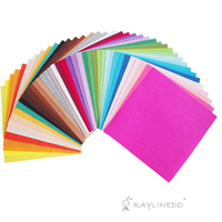 40X Different Solid Color Felt Fabric Nonwoven Sheet Patchwork Squares 30 30cm Quilting Scrapbooking Artcraft Project