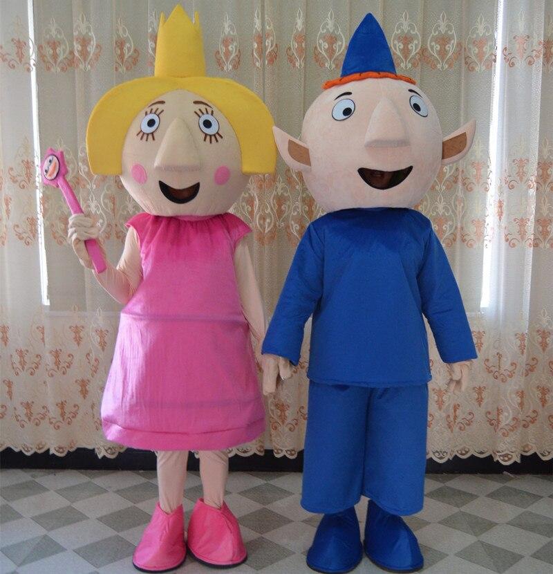 Costume de mascotte Ben et Holly pour adultes deux pièces ensemble costume de fête Costume de carnaval