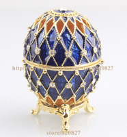 Faberge Egg Crystals Jewellery Jewelry Trinket Ring Gift Box Crystal Russia Eggs Souvenir Figurine Home