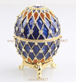 Faberge Egg Crystals Jewellery Jewelry Trinket Ring Gift Box Crystal Russia Eggs Souvenir Figurine Home Decoration Holiday Egg