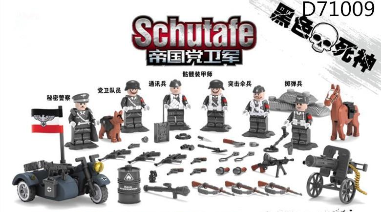 Haogaole 60PCS  Building Blocks World War 2 Military Army German SS Army Gun Weapon SWAT Soldier Navy Seals Brick Toys Kids Gift