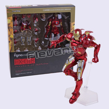 Figma 217 / EX-026 / EX-018 Iron Man Mark VII MK 42 PVC Action Figure Collectible Model Toy
