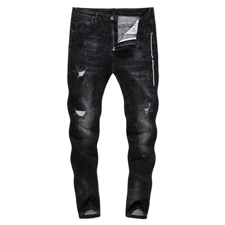 KSTUN Jeans Men Clothes 2018 Autumn and Winter Black Stretch Street wear Denim Hip hop Skinny