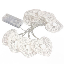 10 LED Love Heart String Fairy Light Bedroom Wedding Party Decor Warm White
