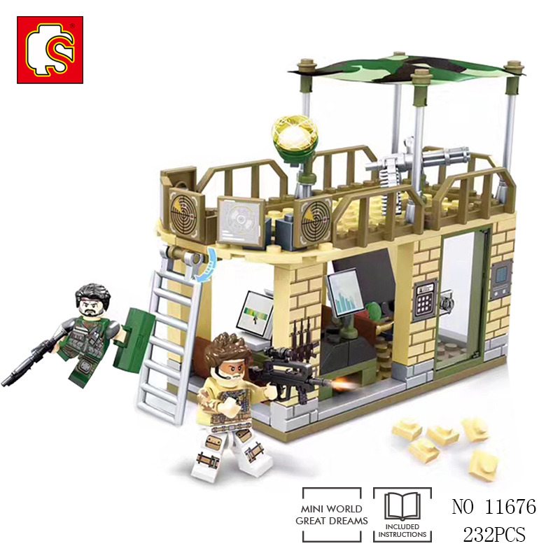 Sembo Compatible legos City War Block Military Series Army Brick Building Block Model Toys Enlighten 2017 toy With Action Figure цена и фото