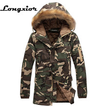 ff250bb5a09 L16 модная зимняя куртка Для мужчин камуфляж Мужские парки Для мужчин  Военная Униформа Пальто для будущих