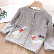 baby cardigan for girls sweater embroidery bird gray boutiques childrens clothing kids clothes outfit autumn 19722540