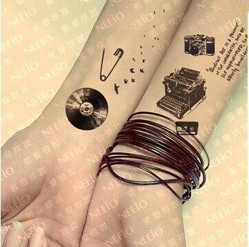 Buy 2pcs lot 10 15cm vintage design diy for Diy tattoo transfer paper
