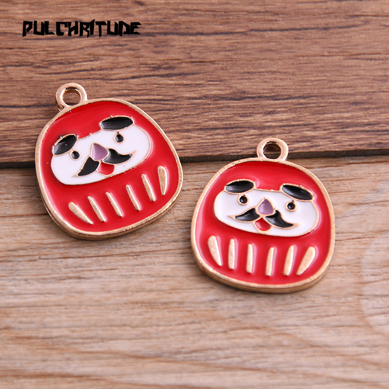 5pcs Colorful Enamel Metal  Lovely Mr Rabbit Charms Pendant Crafts Jewelry 51695