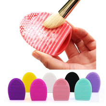 2016 New Makeup Brushes Brushegg Cleaning Make up Washing Brush Silica Glove Scrubber Cosmetics Silicone Clean Tools