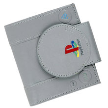 Game Handle Playstation Wallet PS1 Shape Coin Purse With Card Holder For man Bi-Fold(China)