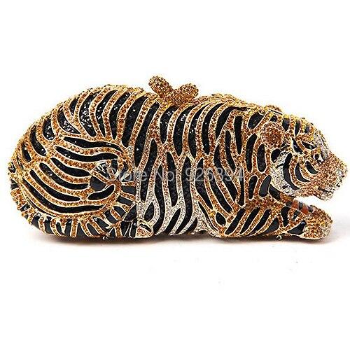 2015 moda personalizada clásico del diseño del tigre de lujo de diamantes mini m