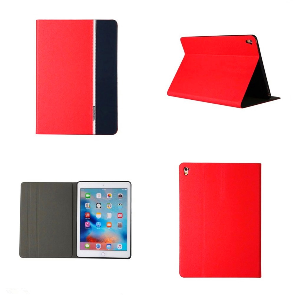 For iPad Pro 9.7 Case Contrast Color Flip Cover PU Leather Stand Tablet Case Sleep Wake Protective Cover For iPad Air 3 iPad7 #
