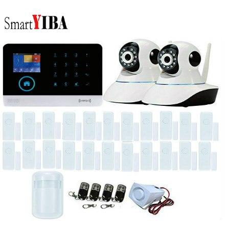 SmartYIBA système dalarme anti-intrusion 3G   Notification SMS et appels sans fil, prise en charge dalarme Wifi résidentiel, caméra IP, Signal GPRS