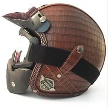 Certificação DOT Óculos Hilldown Capacete moto Capacete motocross Capacete Com Óculos de Proteção 7 Cores M/L/XL/XXL tamanho do capacete de couro