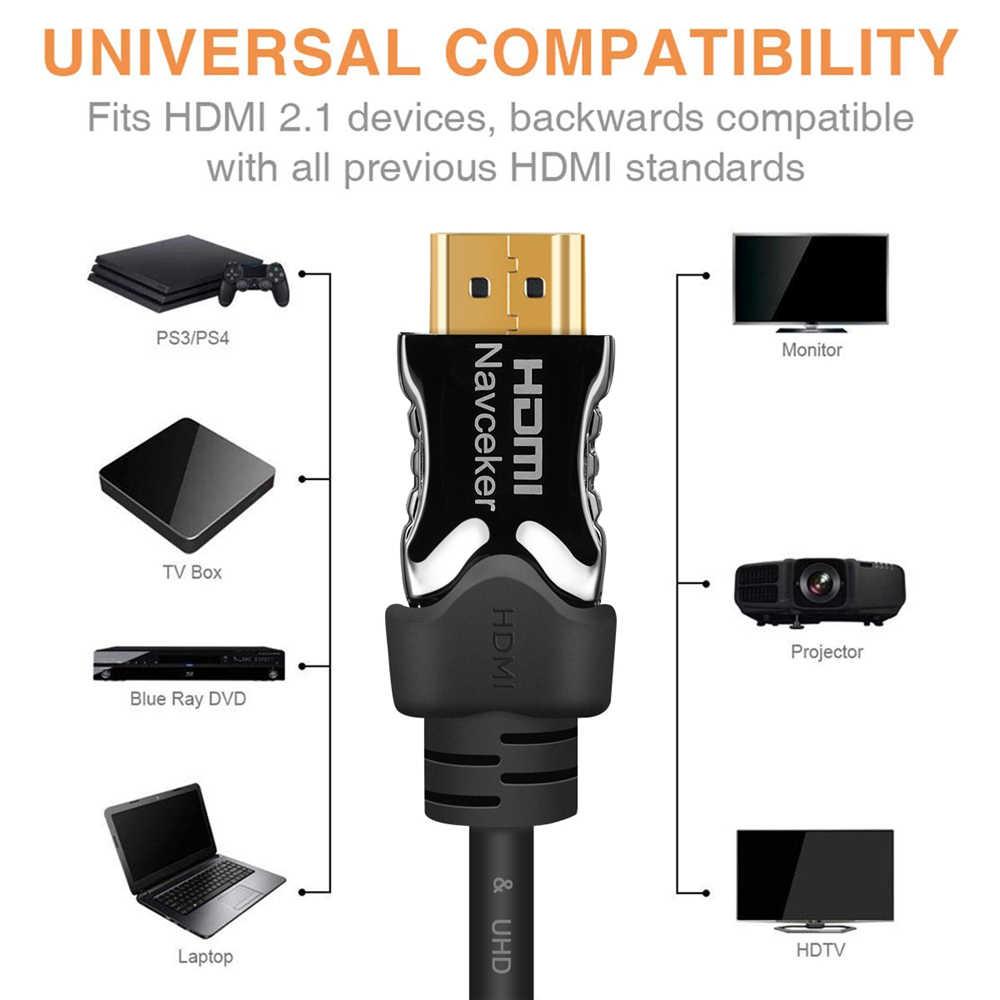 Venção HDMI 2.1 Cabo 8k 60Hz 4K 120Hz 3D 48 5gbps de Alta Velocidade Cabo HDMI para PS4 8K Cabo HDMI Switch Splitter Box Vídeo Extensor