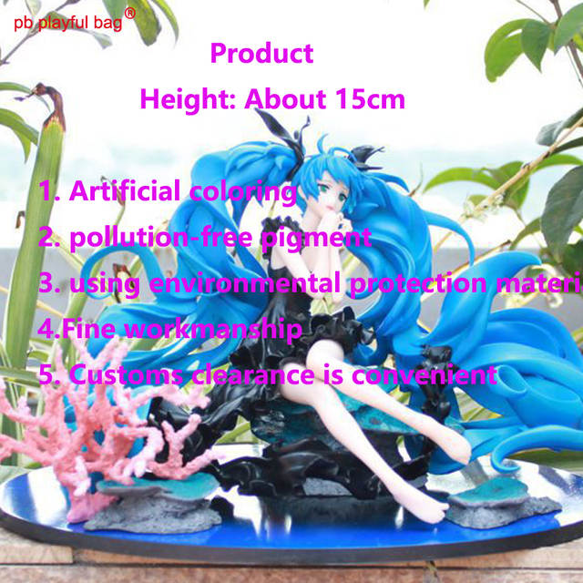 US $69 99 |Hot selling toy Hatsune Miku 1pcs virtual singer 15cm PVC action  figure deep sea girl Miku model birthday Christmas gift DA01-in Action &
