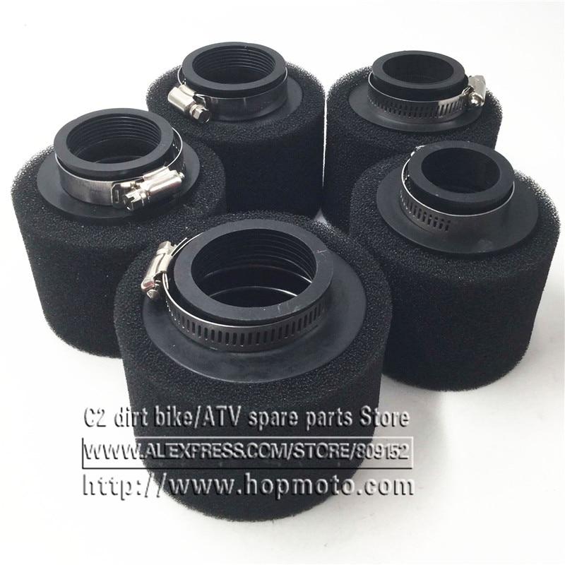 Черный и красный прямой Поролоновый воздушный фильтр 35 мм 38 мм 42 мм 45 мм 48 мм 58 мм, губка для мопеда, скутера, грязи, питбайка, мотоцикла