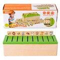 Монтессори Раннего Образования Серии Domino Игрушки Деревянные Существо Блоки детский Интеллект Обучающие Блоки Brinquedos WJ863