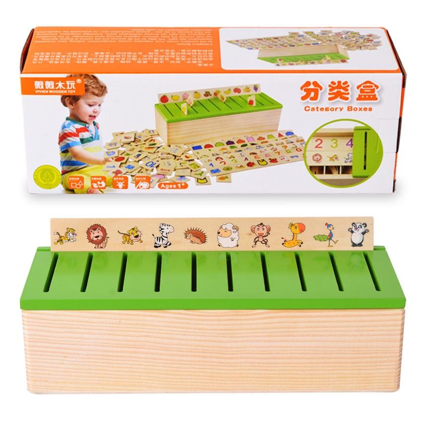 Montessori drveni blokovi stvorenja rani odgoj serije Domino igračka - Izgradnja igračke