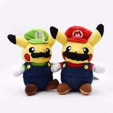 Super Mario Pikachu Plush Toy Cute Pikachu Cosplay Mario Stuffed Soft Dolls 9