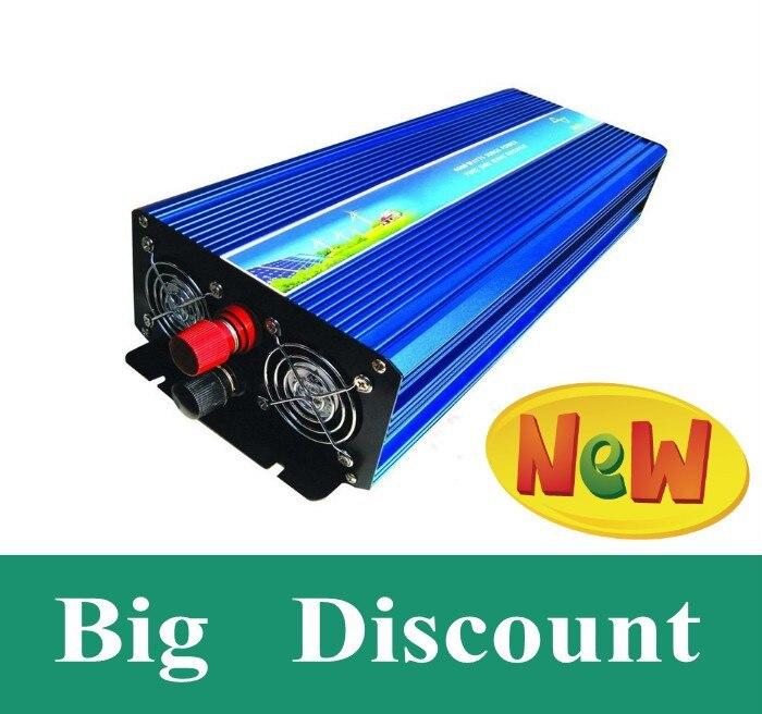 цена на 2.5kw DC til AC inverter 2500w pure sine wave power inverter,12V DC to AC 220V solar/wind/battery home power supply