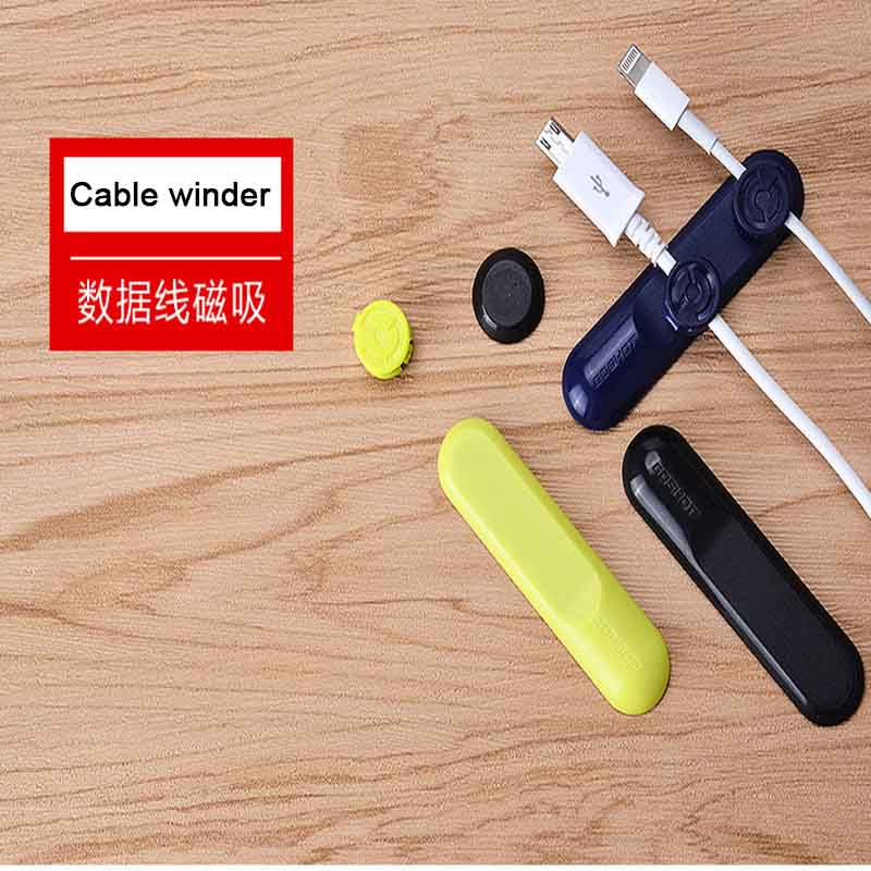 Earphone Magnetic Cable Winder USB Charger Line Cord Wrap Organizer Holder Tidy cable For iPhone Samsung HTC Xiaomi