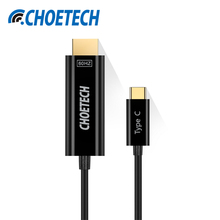 CHOETECH USB 3.1 Type C to HDMI Cable,4K 60Hz 1.8M C to HDMI Cable for Samsung S8 for MacBook USB-C Cable for ChromeBook Pixel(China)