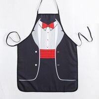 Śmieszne fartuchy nowość Gentleman formalne sukienka fartuch kuchenny dla Fancy dress na prezent projekt miłośników prezent w Fartuchy od Dom i ogród na