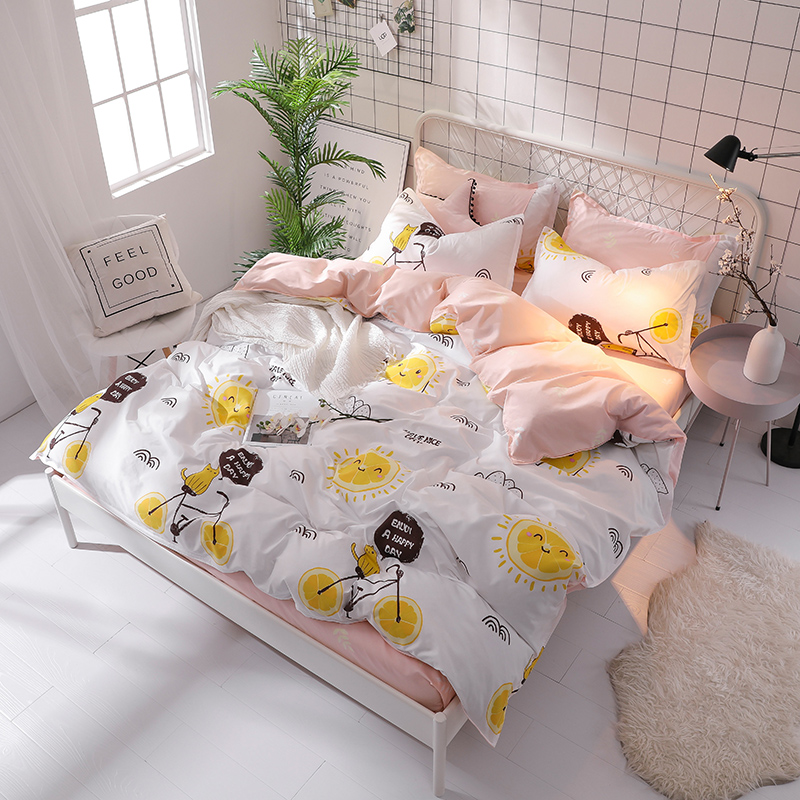BEST.WENSD Lemon bicycle king bedding set Korean Style bed linen Bamboo fiber High quality Deluxe bedding Single Twin Full size BEST.WENSD Lemon bicycle king bedding set Korean Style bed linen Bamboo fiber High quality Deluxe bedding Single Twin Full size