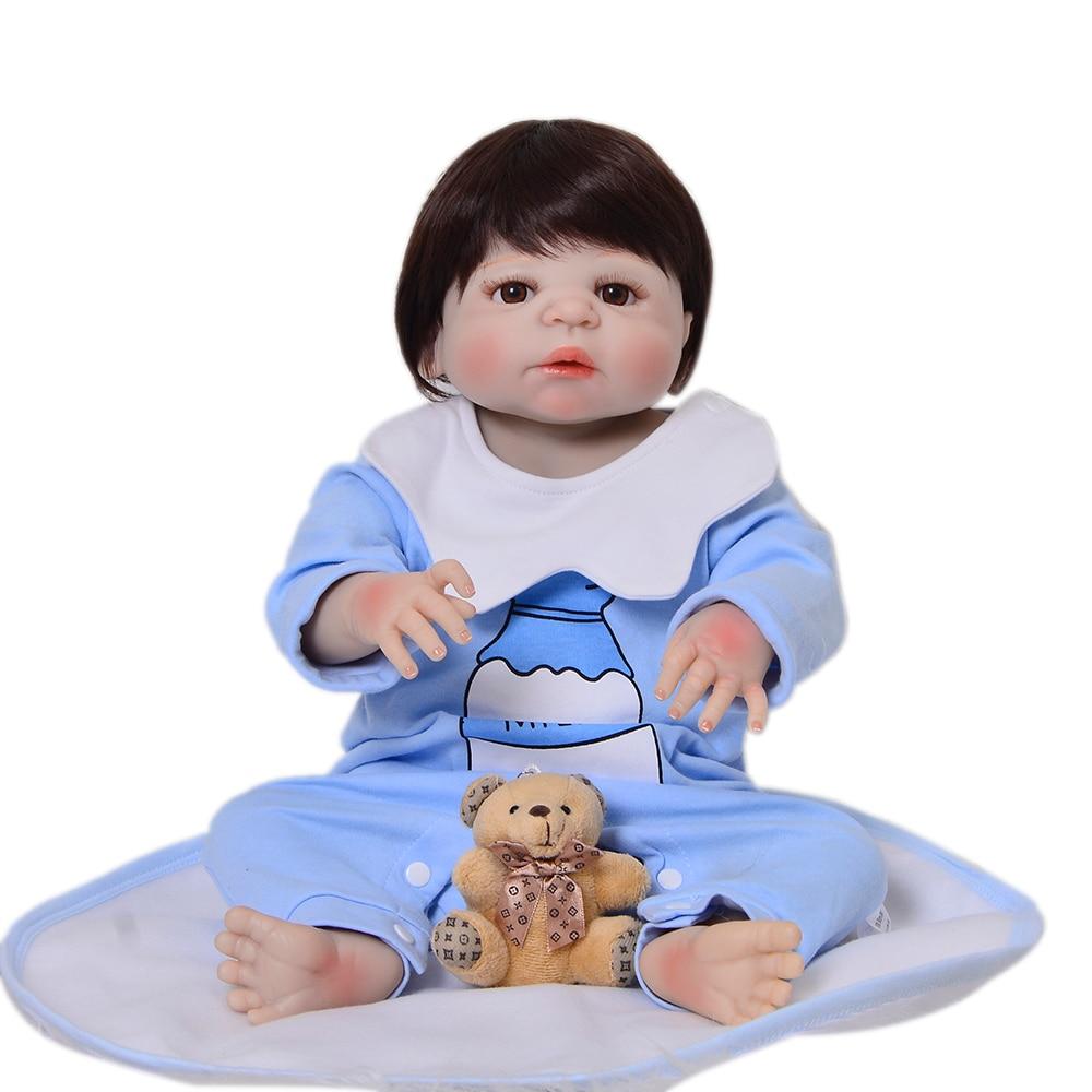 56 cm Silicone lisse vinyle Reborn bébé garçon poupées réaliste à la recherche Super cool nouveau-né bébé poupée enfant en bas âge cadeau de fête d'anniversaire