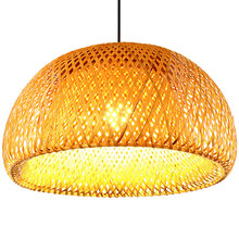New Chinese Bamboo weaving bamboo nest nest antique Pendant light E27 lamps lanterns living room hotel restaurant aisle Lamp(China)