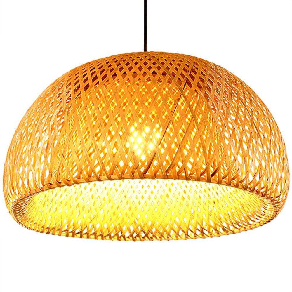 Nouveau bambou chinois tissage bambou nid nid antique suspension E27 lampes lanternes salon hôtel restaurant allée lampe