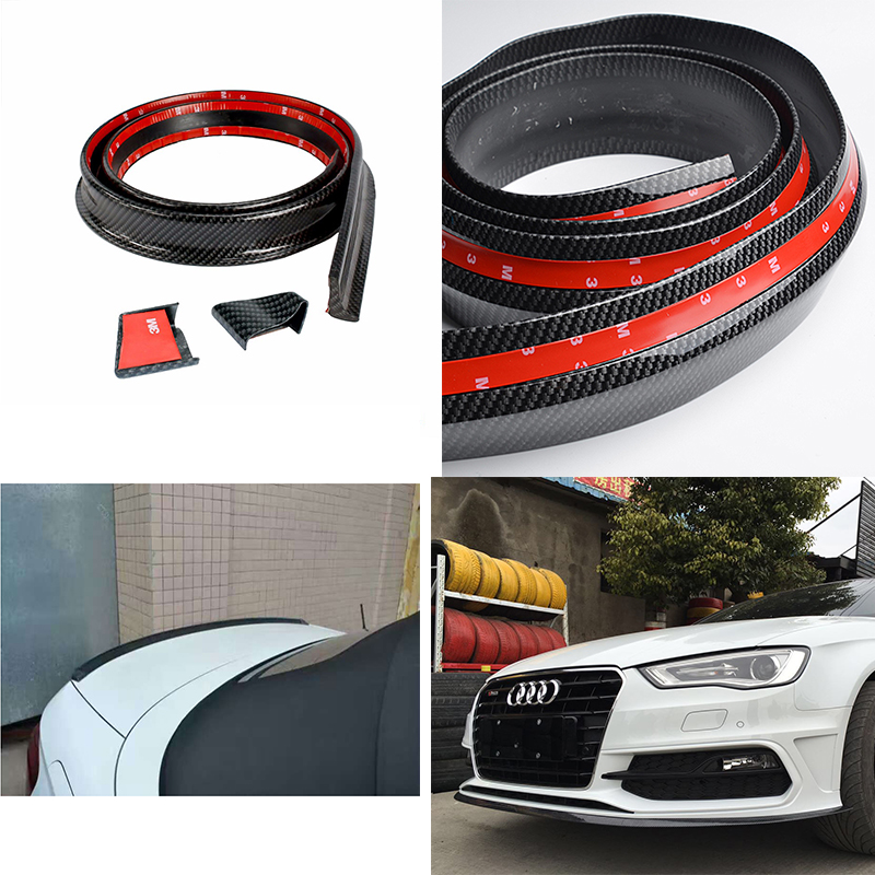 car accessories fake Carbon Fiber rear trunk spoiler and front bumper lip for audi A4 B6 B7 B8 B9 цены