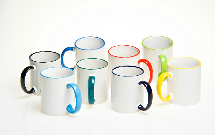 11oz Blank Sublimation White Mugs/Cup,Colorful Mugs for Heat Press Printing